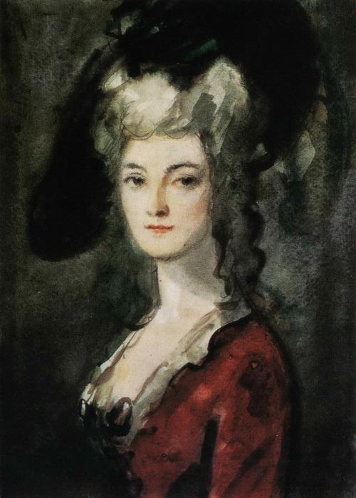 K.Rudakov Manon Lescaut acuarela