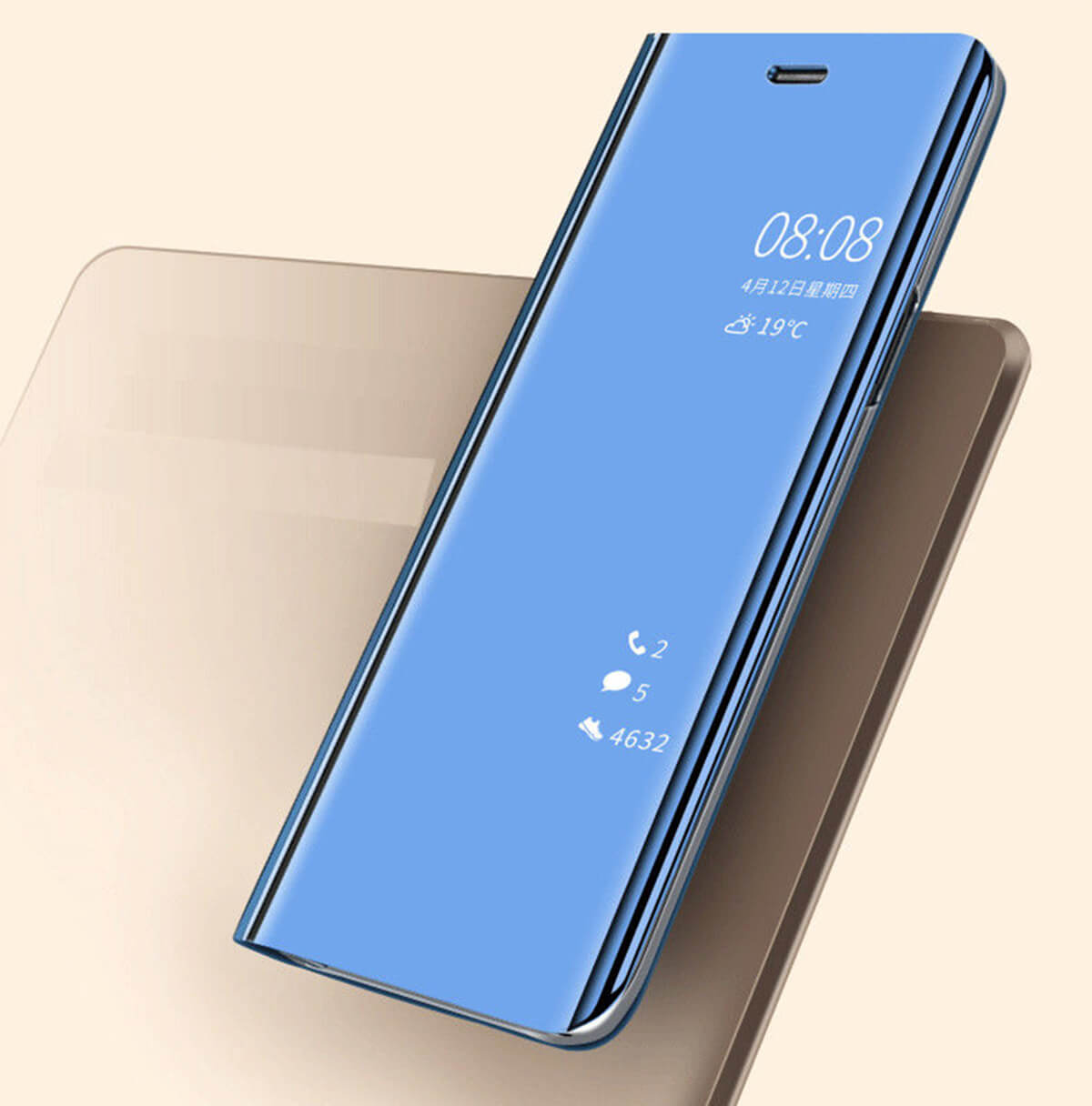 New-Huawei-P20-Lite-Mate-P30-Pro-Smart-View-Mirror-Leather-Flip-Stand-Case-Cover miniatura 48