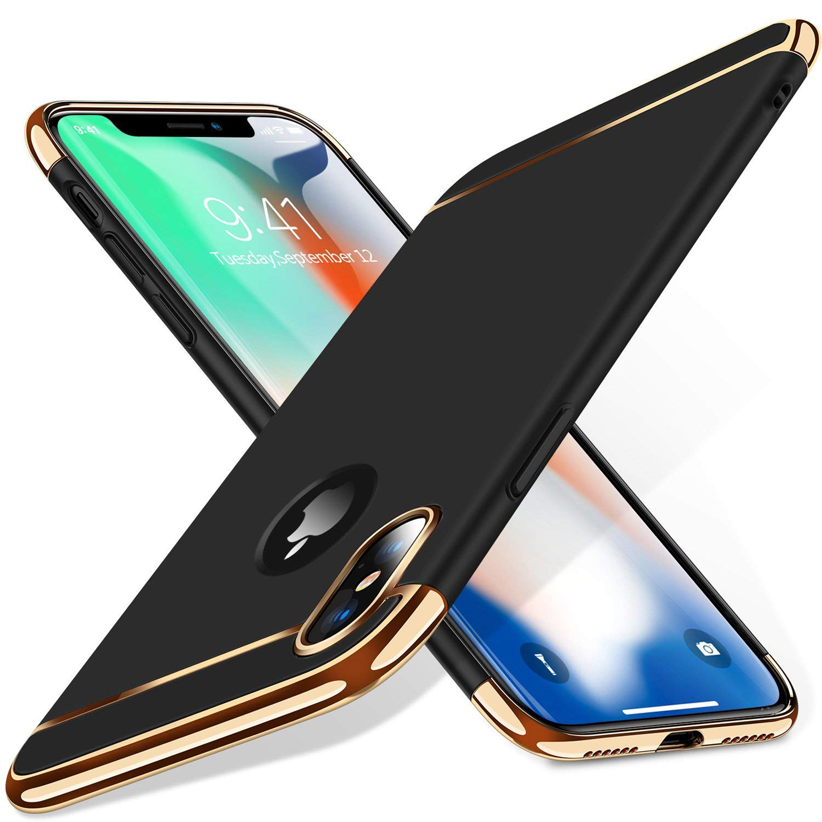 thumbnail 48 - Luxury Matte Case Tempered Glass Cover For Apple iPhone X XS XR Max 10 8 7 6s 6
