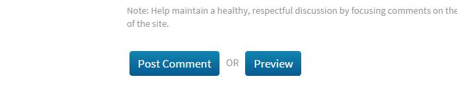 (Screenshot of default MeFi comment form buttons on Modern Theme