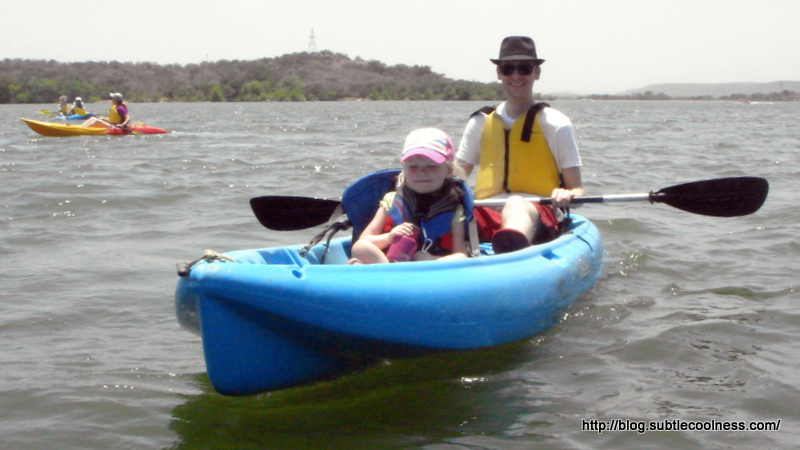 William and Emily in the kayak.