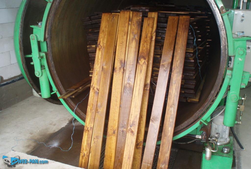 Обработка древесины в автоклаве, с пропитками разными!