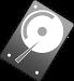 Grafik Festplatte: Diese Grafik-Datei könnt ihr als Word-, GIMP- und PNG-Datei kostenlos herunterladen.