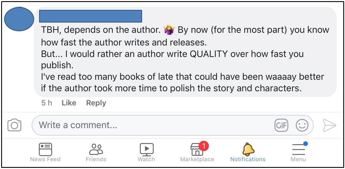 Rapid release vs quality of books