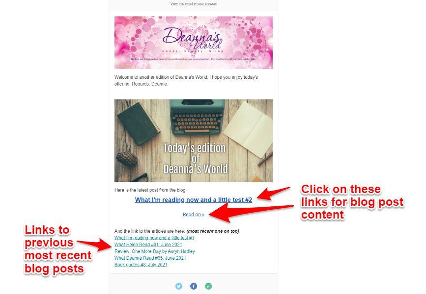 Newsletter view