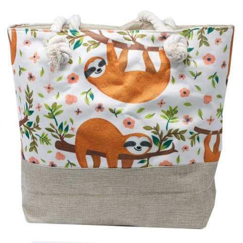 rope handle bag - sloths