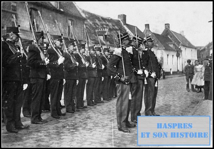 Les canonniers d'Haspres au début du XX° siècle