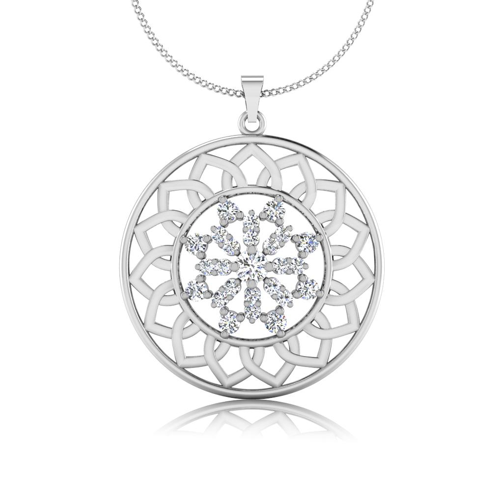 The Lattice Diamond Pendant