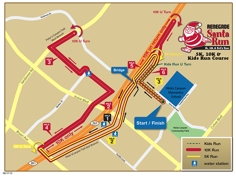 2015_santarun_coursemap Renegade Race Series - Renegade Santa Run 5K, 10K, Kids Run