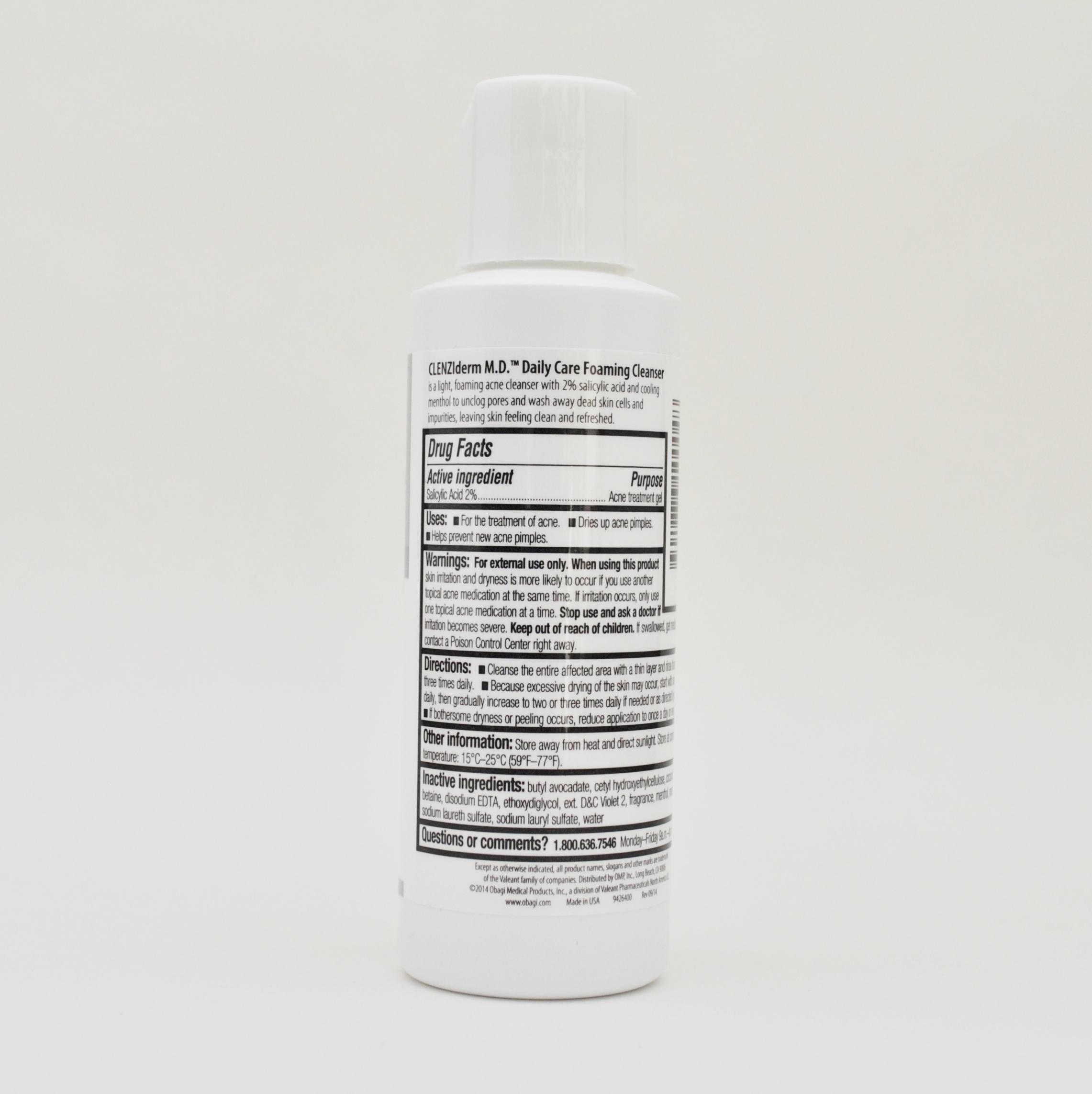 Obagi Clenziderm M D Daily Care Foaming Cleanser Acne