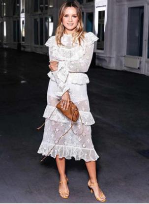 Белое Кружевное платье