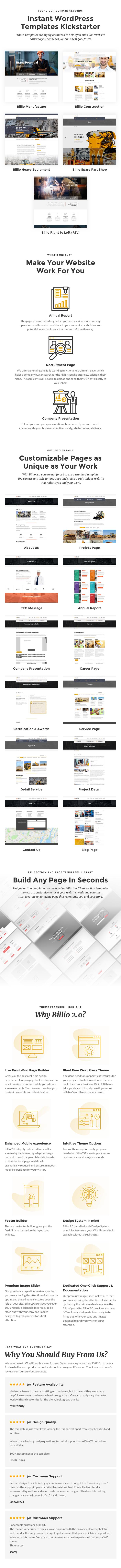Billio 2.0 - Engineering & Industrial WordPress Theme - 1