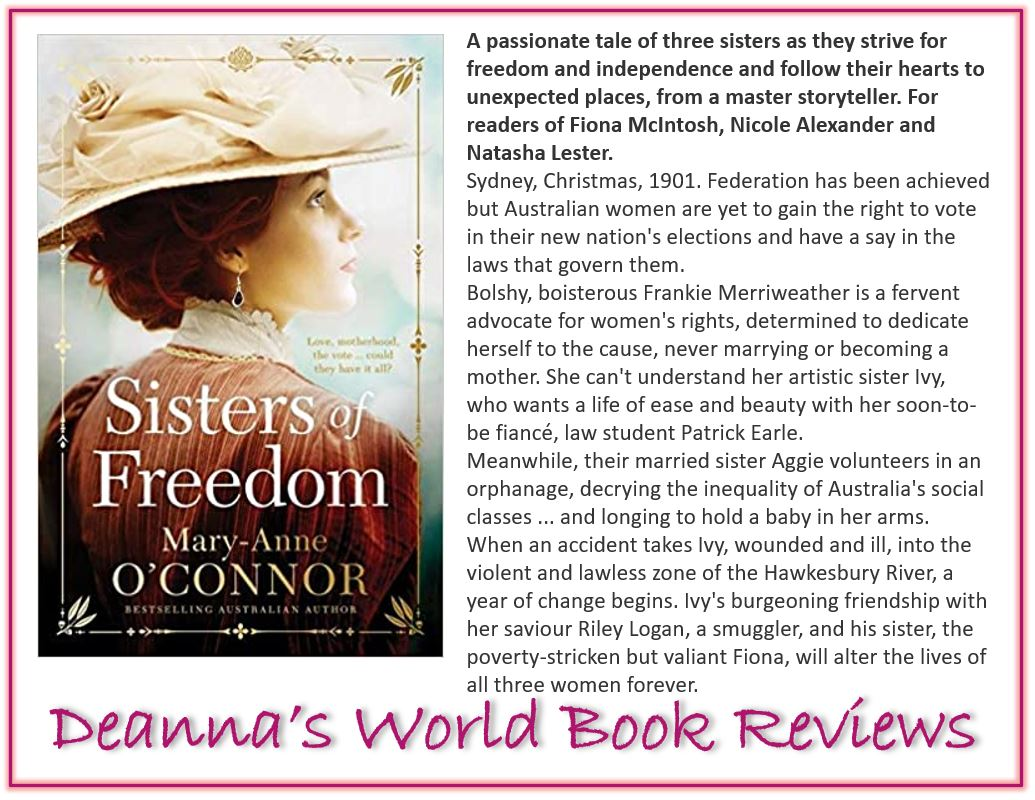 Sisters of Freedom by Mary-Anne O'Connor blurb