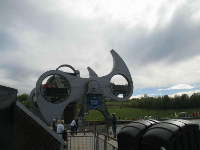 Фолкиркское колесо. Подъем катера