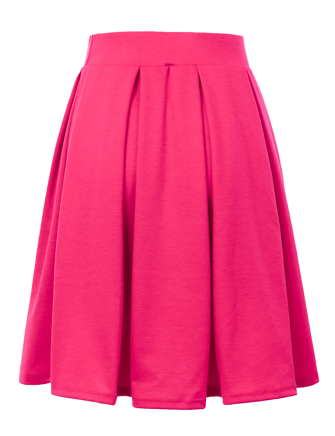 Doublju-Elastic-Waist-Flare-Pleated-Skater-Midi-Skirt-for-Women-with-Plus-Size thumbnail 30