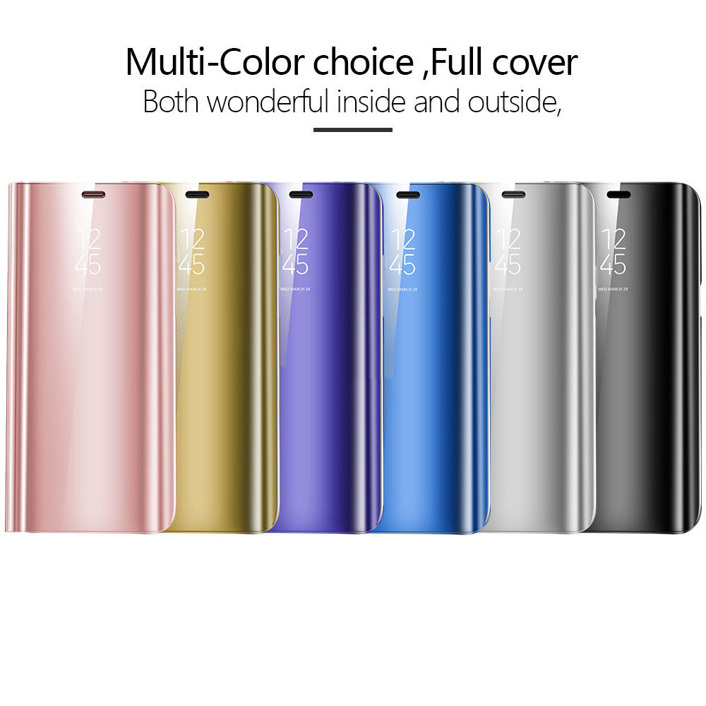 Smart-View-Mirror-Leather-Flip-Stand-Case-Cover-For-Huawei-P20-Pro-Lite-Plus-P10 miniature 22