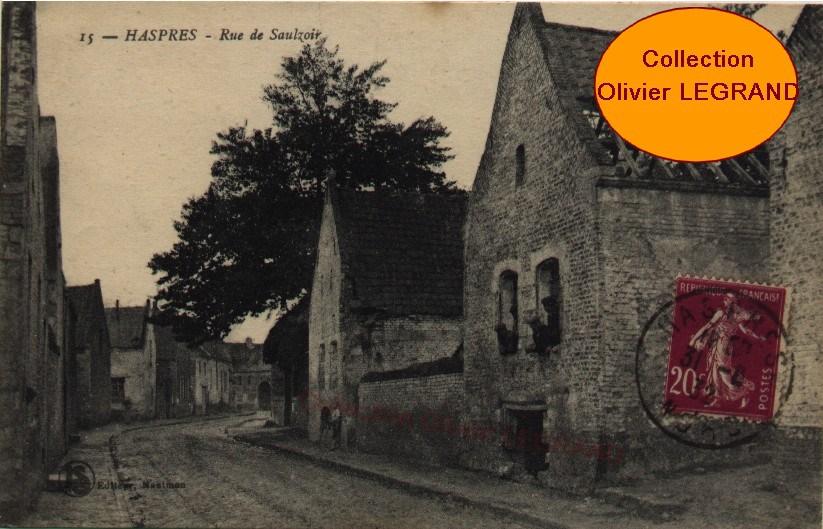 Haspres et son histoire : La rue de Saulzoir