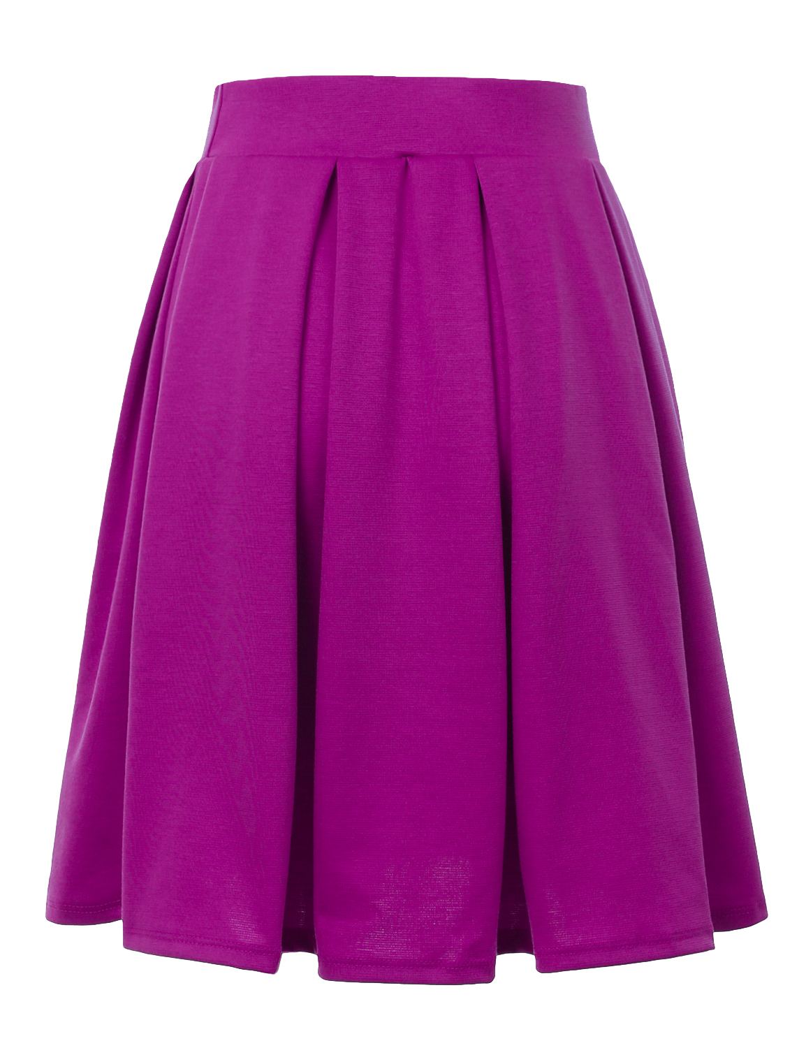 Doublju-Elastic-Waist-Flare-Pleated-Skater-Midi-Skirt-for-Women-with-Plus-Size thumbnail 33