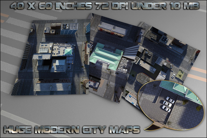 huge city maps