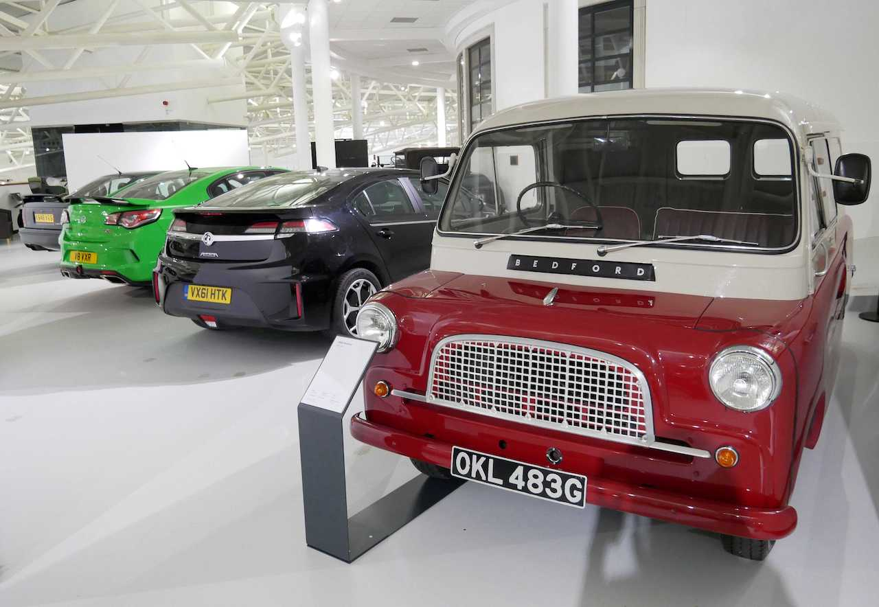 Vauxhall Heritage Collection on display at the British Motor Museum