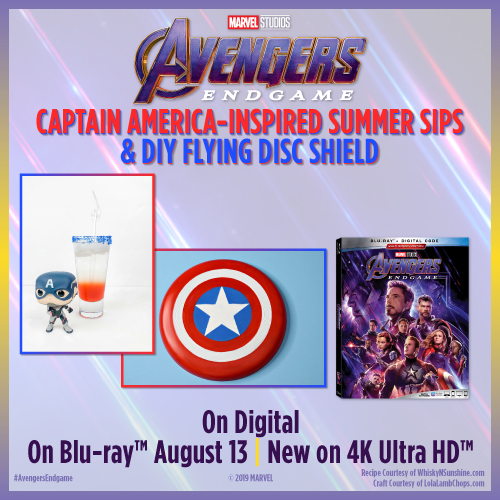 Captain America-Inspired Summer Sips and DIY Flying Disc Shield