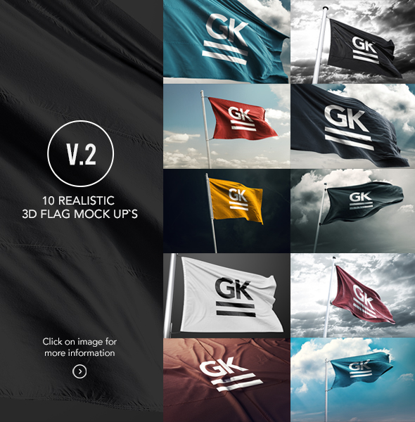 3D Flag Bundle Mock-up