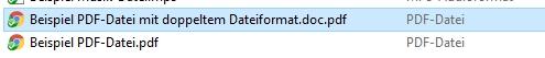 Beispiel für doppeltes Dateiformat