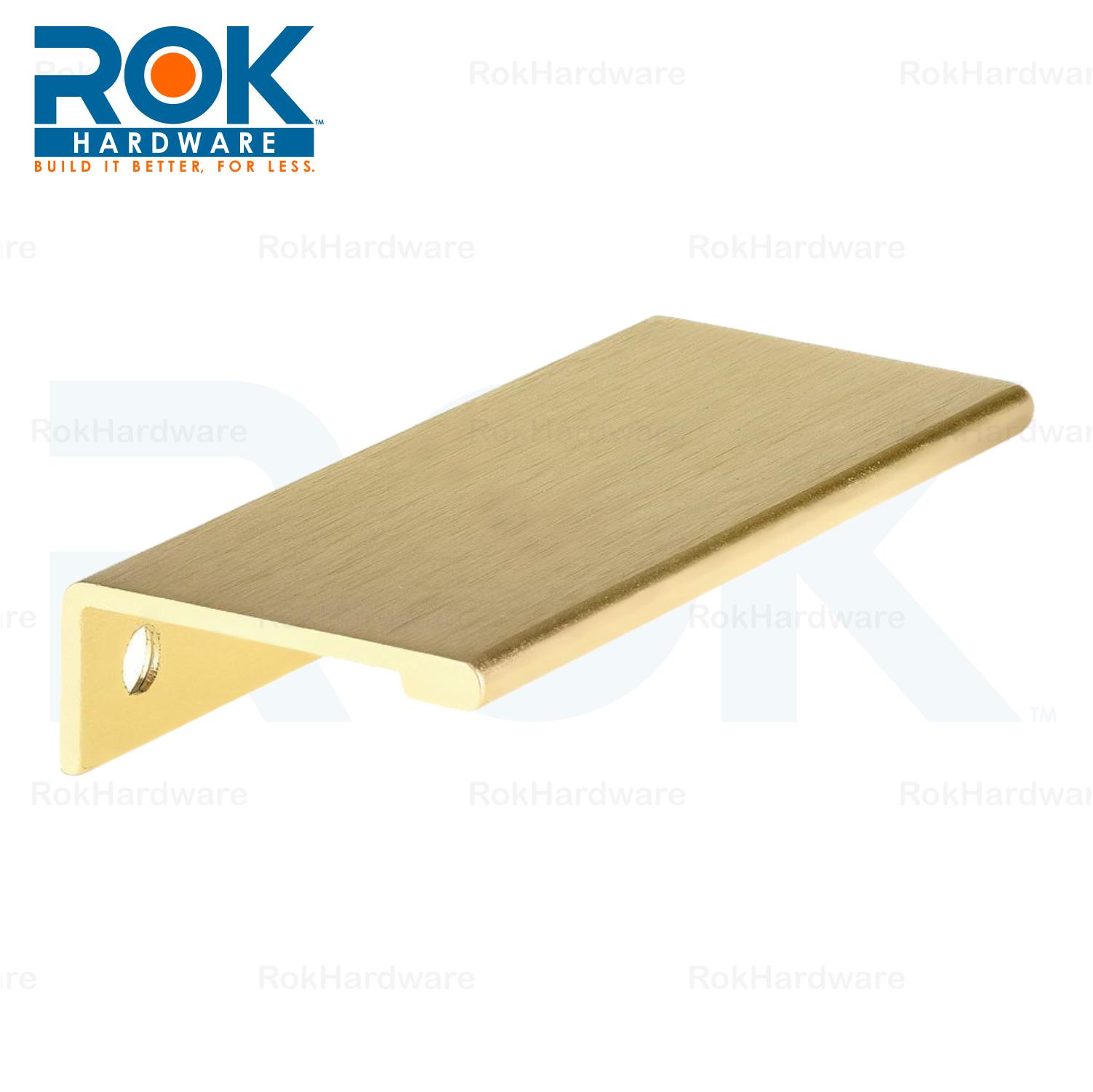 Rok 3 5 32 Quot Finger Edge Pull Brushed Satin Gold Door