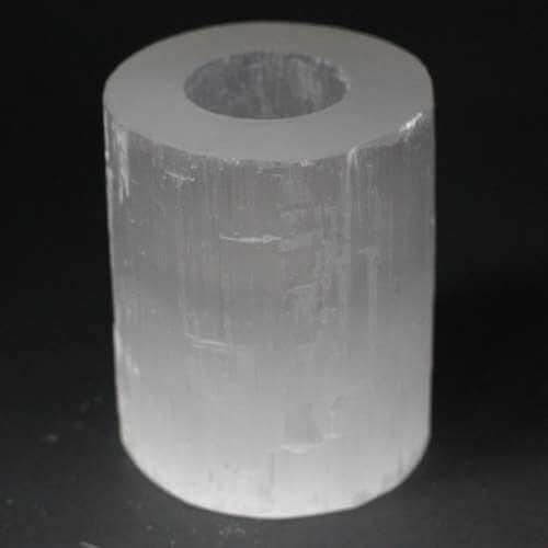 selenite candle holder - medium