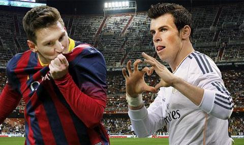 Bale đối đầu Messi ở La liga