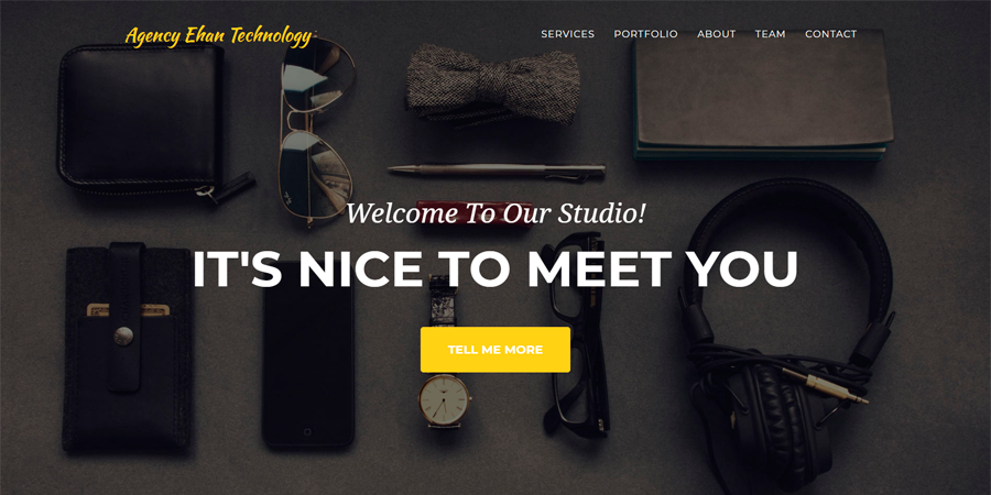 Agency – Simple Onepage Bootstrap HTML Template