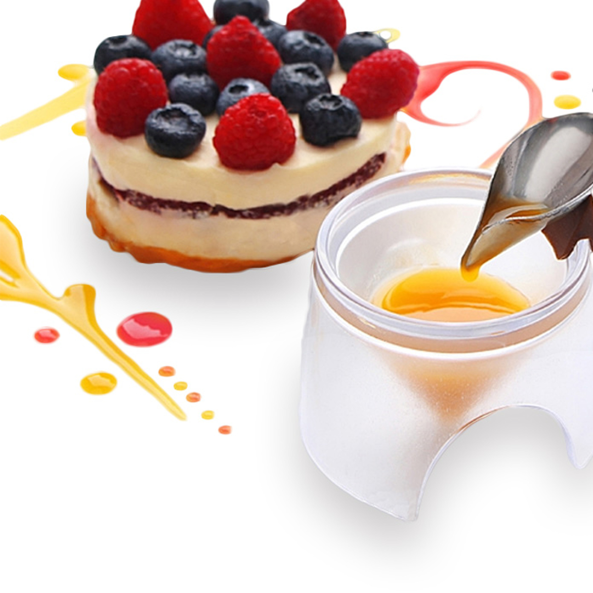 Cake Decorating - Deco Spoon Decorate Food Draw Design ...
