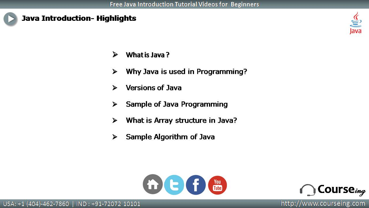 Free Java Introduction