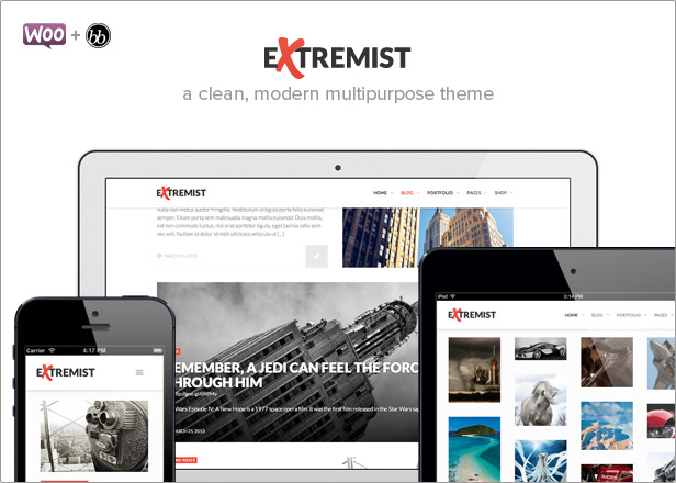 Extremist: powerful responsive multipurpose theme