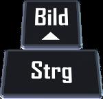 Die Kombination Steuerung-Taste plus Bild hoch- bzw. Bild runter-Taste wechselt zur nächsten bzw. vorherigen Registerkarte.