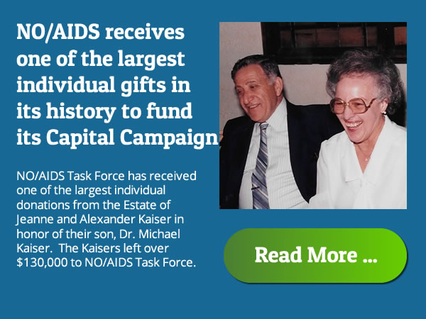 Kaisers make largest individual donation in NO/AIDS history