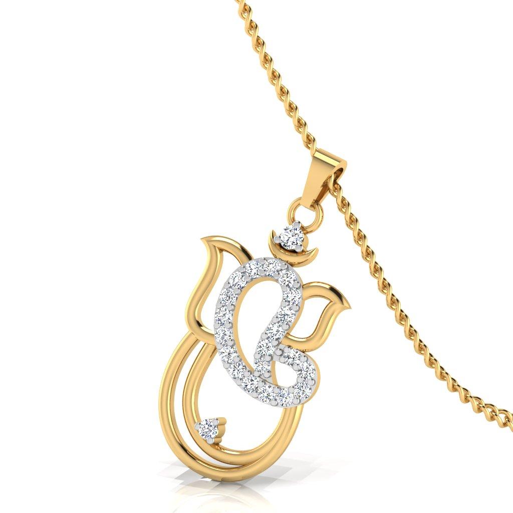 The Om Gannesh Diamond Pendant