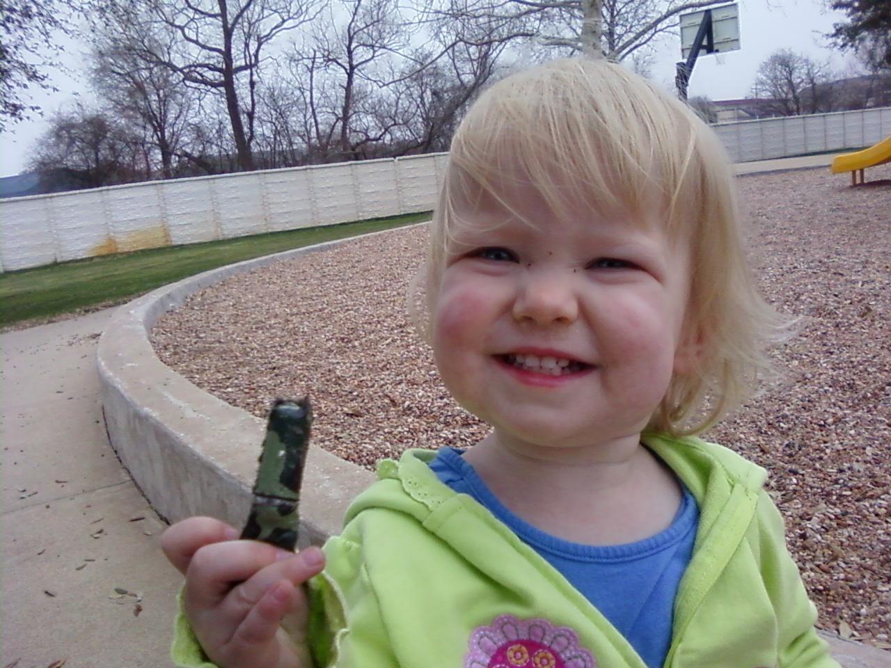 Emily found the geocache