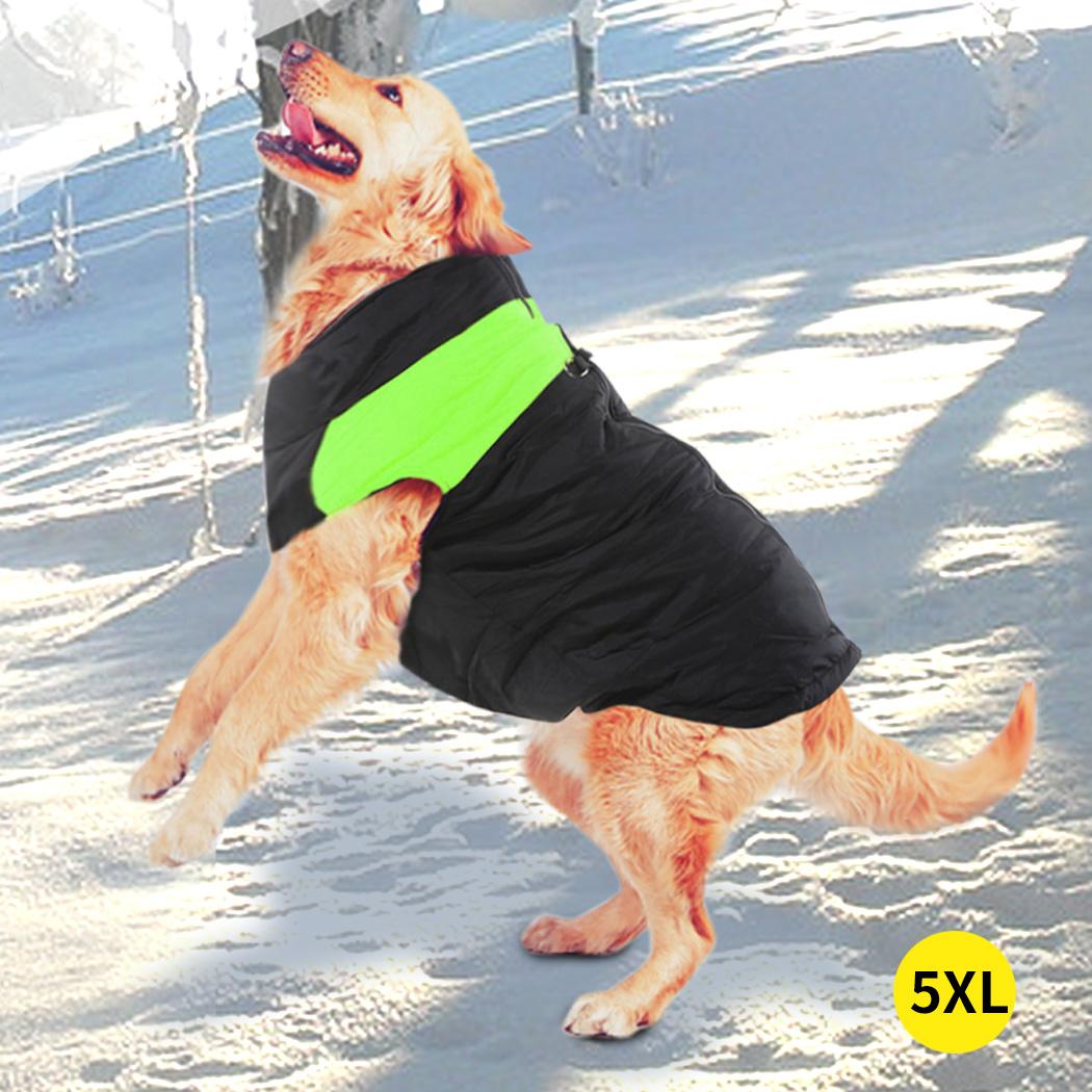 thumbnail 80 - PaWz Dog Jacket Large Pet Jackets Coat Waterproof Clothes Winter Vest Green