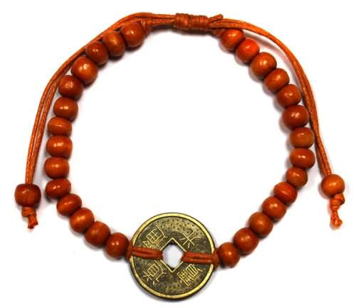 good luck feng shui bracelet - orange