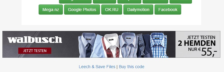 Banner-Werbung, die mich nicht anspricht - da ich Hemden vor allem in Laden-Geschäften kaufe und dort anprobiere.