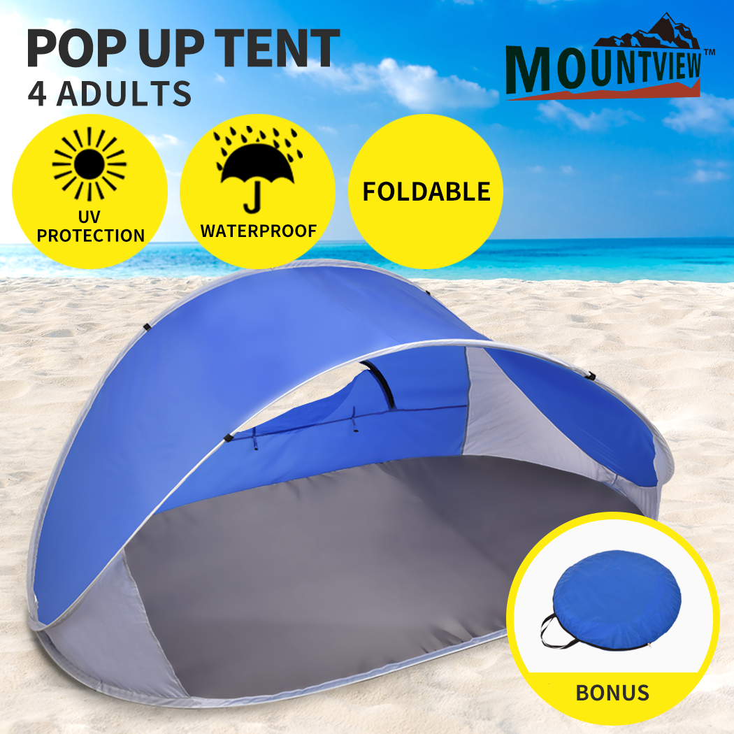 Mountvie-Pop-Up-Tent-Camping-Beach-Tents-4-Person-Portable-Hiking-Shade-Shelter thumbnail 13
