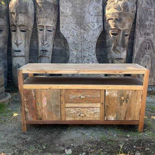 large tv stand - recycled wood