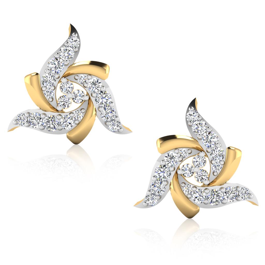 The Prisma Diamond Stud Earrings