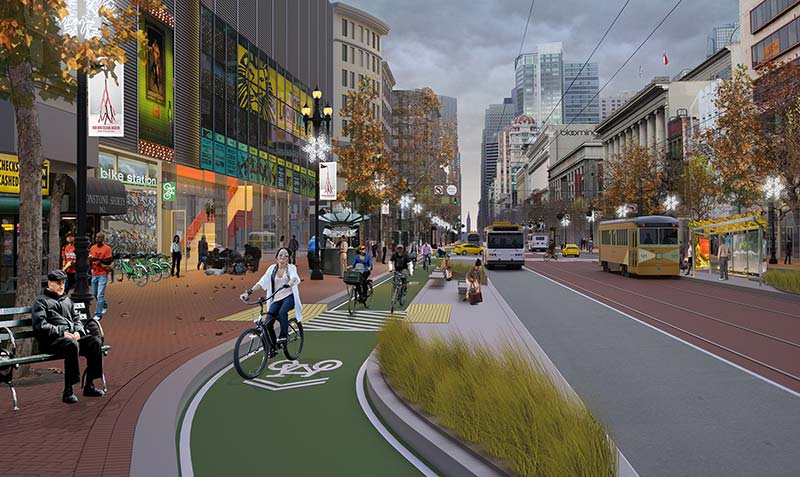 San Francisco's raised bikeway won't make cycling safe