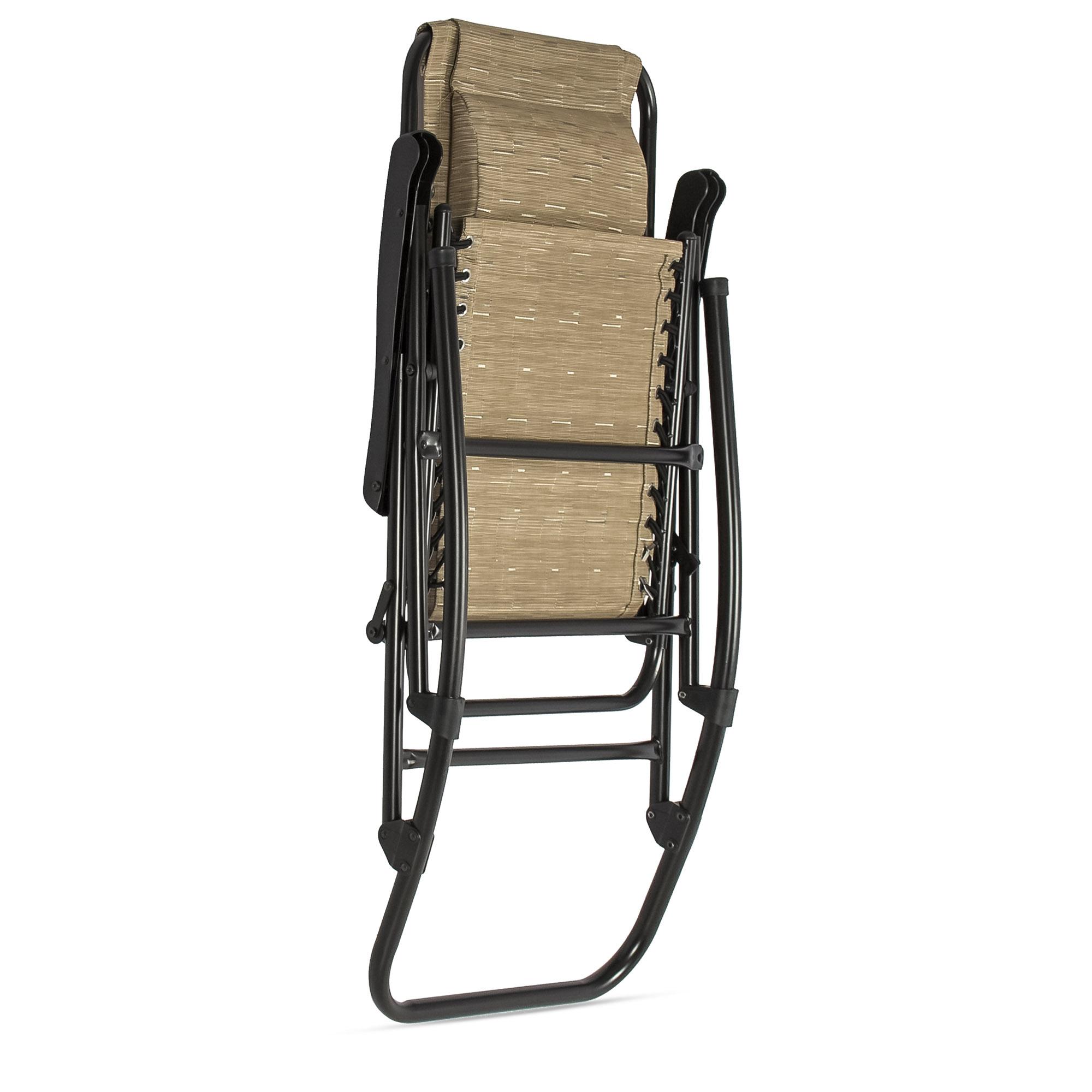 BCP-Foldable-Zero-Gravity-Patio-Rocking-Lounge-Chair thumbnail 12