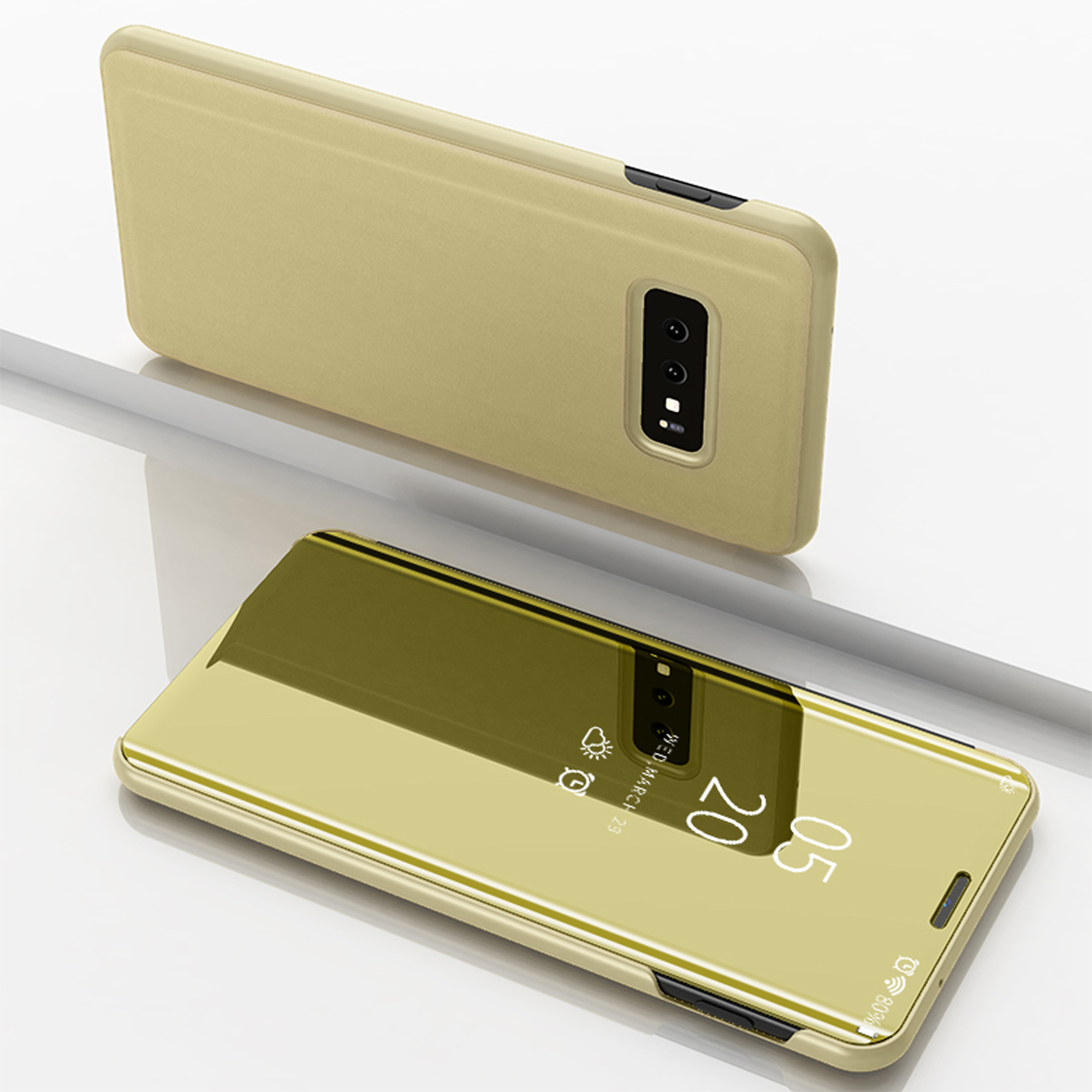 thumbnail 84 - For-Samsung-Galaxy-S9-S10-Plus-Smart-View-Mirror-Leather-Flip-Stand-Case-Cover