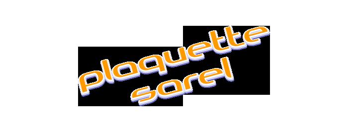 Plaquette Sarel