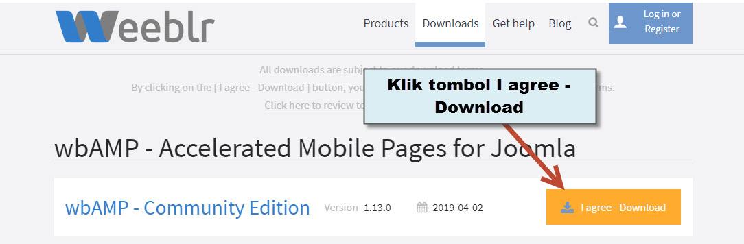 Panduan AMP Pada Joomla CMS - Download