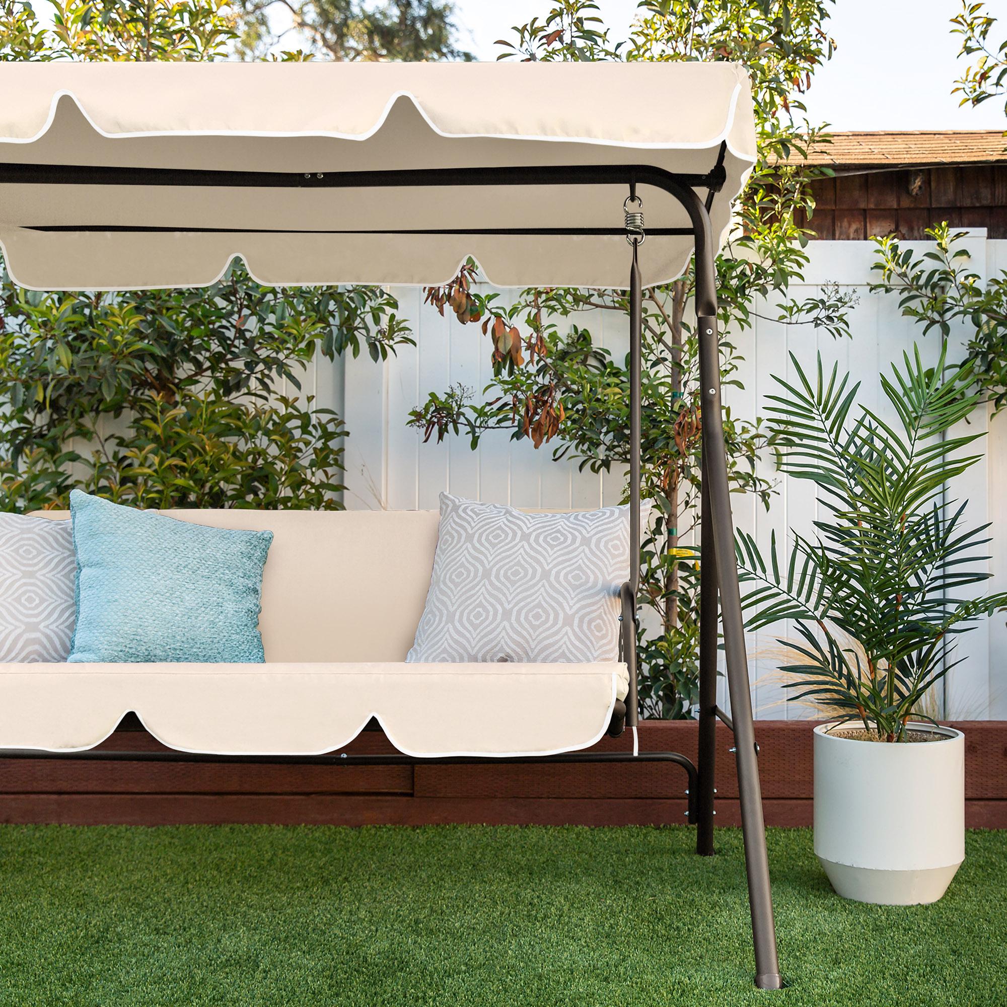 Bcp 2 Person Canopy Swing Glider W Cushions Ebay